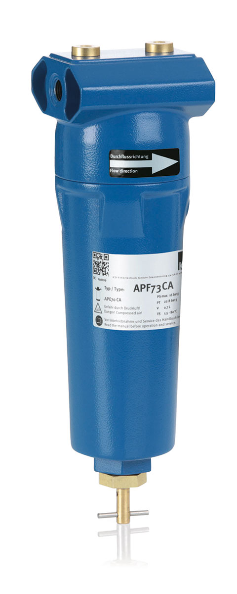 KSI Filtertechnik Compressed air filtration activated carbon