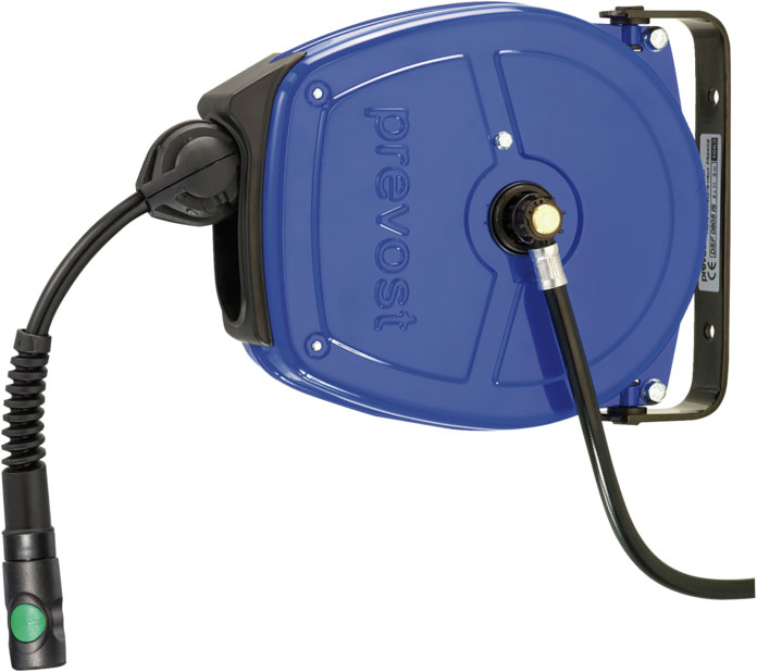 Prevost DSF 1003ES hose reel with stainless steel housing for humid environments