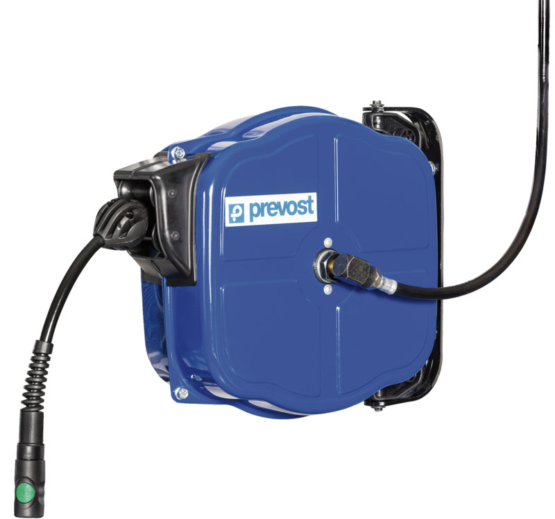 Prevost DPF 0812ES industrial hose reel with 12 m antistatic hose