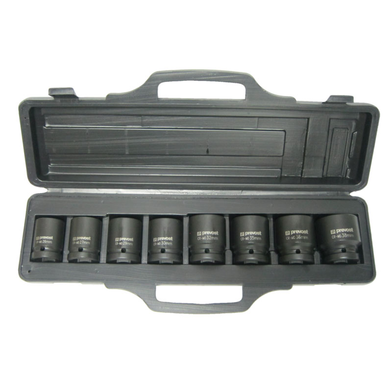 """Box of 8 sockets for 3/4"""" square impact wrenches Prevost TIW 8S34"""