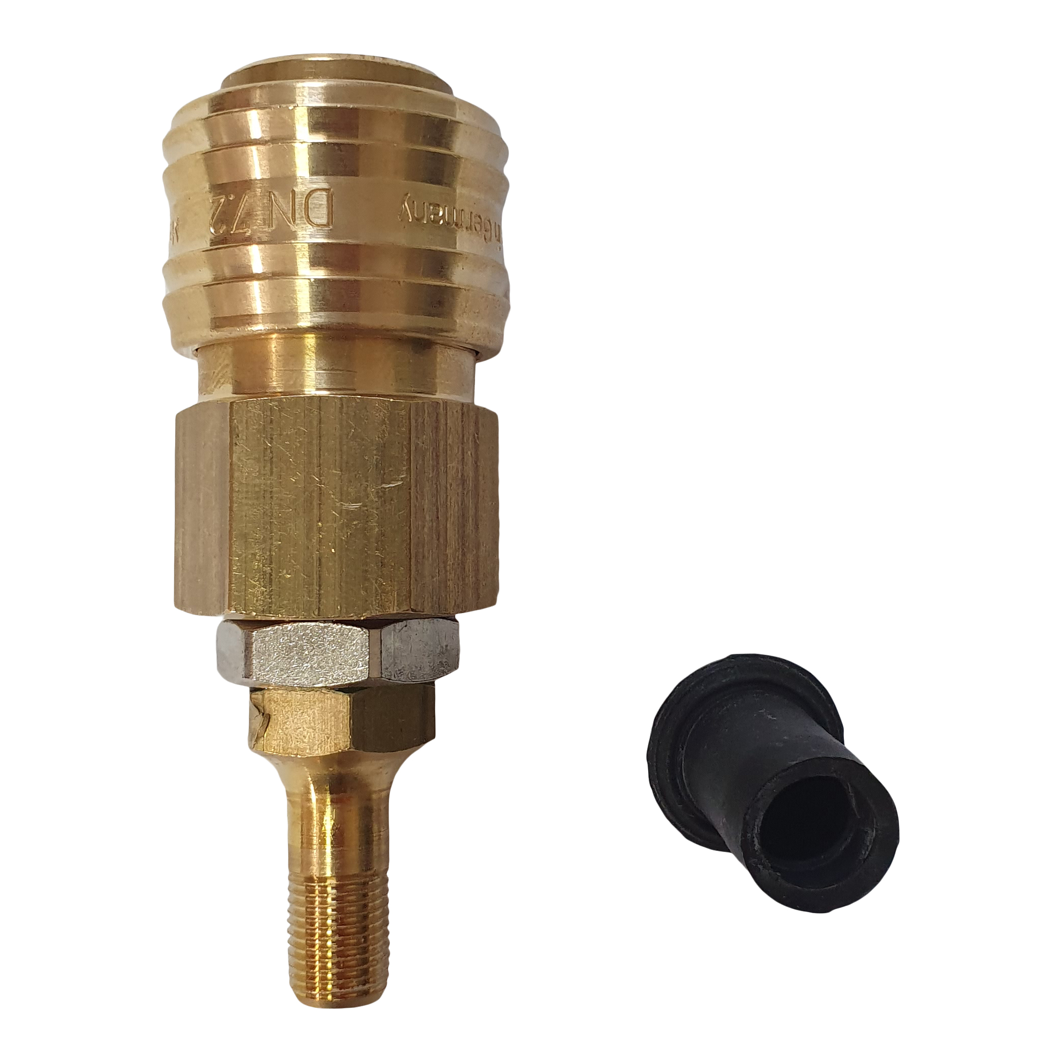 Quick coupling for tire valve