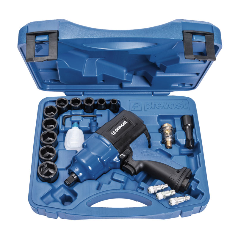 Composite air impact wrench Prevost TIW C121150K reinforced twin hammer in case
