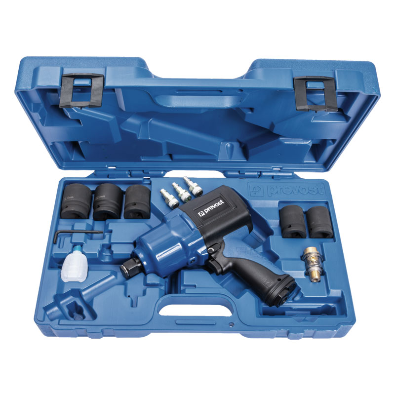 """Composite air impact wrench Prevost TIW C341630K 3/4"""" reinforced twin hammer in case"""