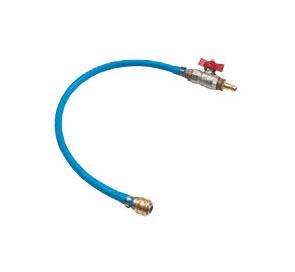 Shut-off valve with hose