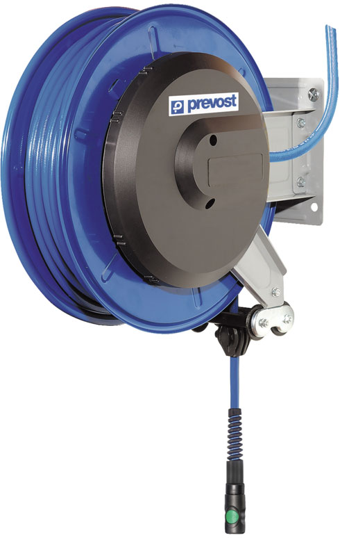 Prevost DVO 1025ES hose reel for large workplaces, 25 m