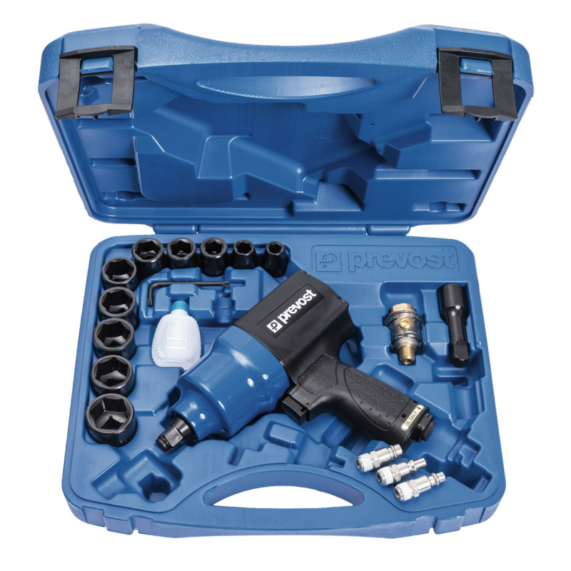 """Composite air impact wrench Prevost TIW C120950K twin hammer 1/2"""" in case"""
